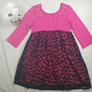 Other - GIRL DRESS BLACK AND PINK JUSTICE SIZE 12